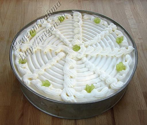 грушевый торт со сливками