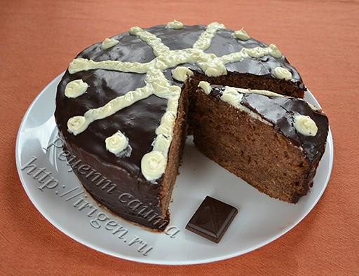 торт шоколадный Загадка в мультиварке