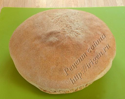 хлеб после выпечки