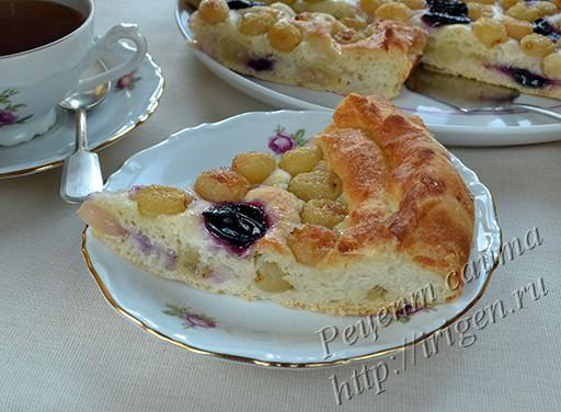 тосканский пирог с виноградом