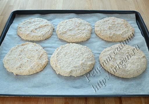 печенье миндальное белковое после выпечки
