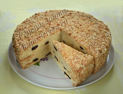 торт сметанник без яиц и масла