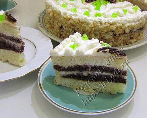 торт сметанник с бананом м