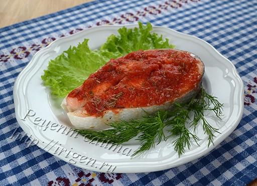 лосось с томатным пюре в мультиварке