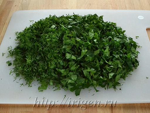 подсушенная зелень