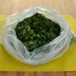 хранение зелени в морозилке