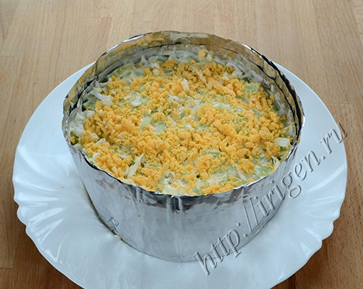 приготовление слоеного салата