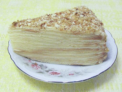 торт наполеон мокрый в разрезе