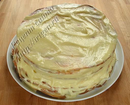 торт после смазки кремом