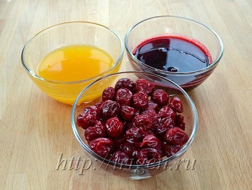 вишня и сиропы для пропитки