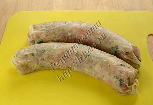 колбаски перед обжариванием