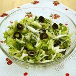 салат зеленый с маслинами
