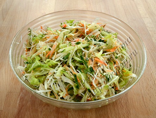салат овощной с дайконом