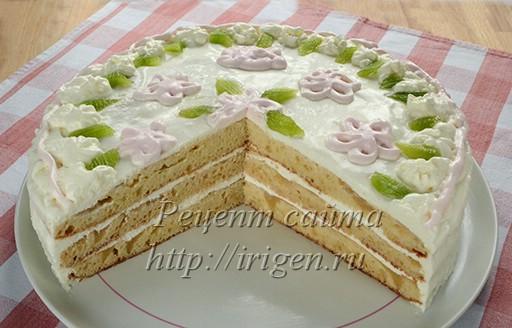 торт яблони в цвету