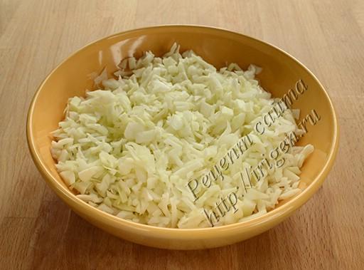 подготовленная капуста