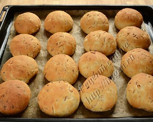 булочки с капустой после выпечки