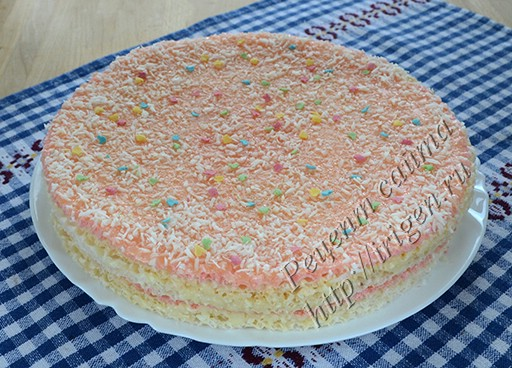 торт вафельный рафаэлло