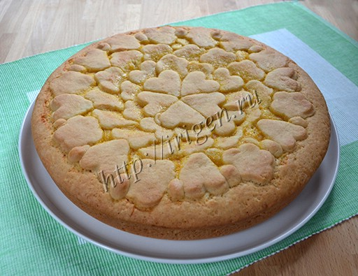 песочный пирог с апельсиновой начинкой