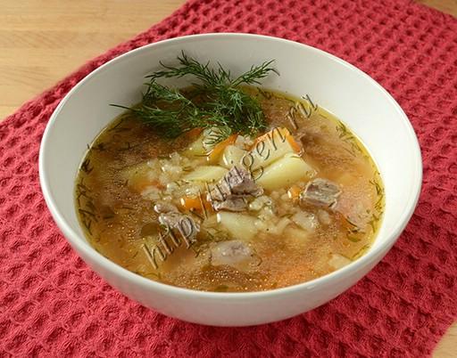 суп с куриной печенью и рисом