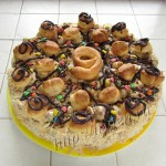 готовый торт из профитролей