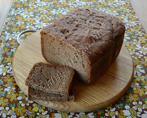 пшенично-ржаной хлеб на закваске в хлебопечке
