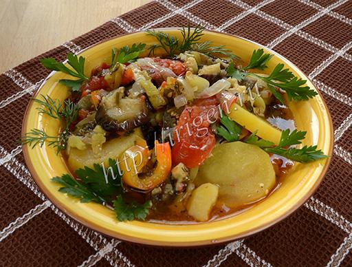 овощное рагу в мультиварке