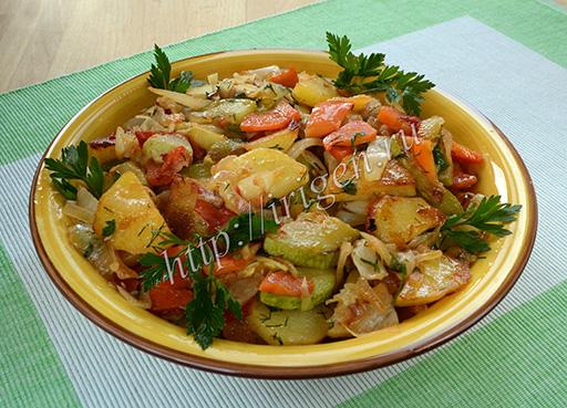 овощной гарнир с картофелем