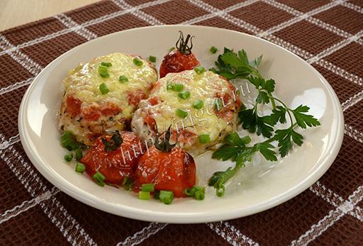 отбивные запеченные с помидорами черри