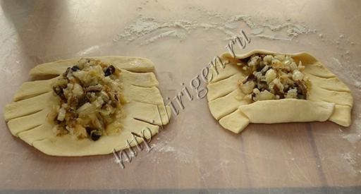 приготовление пирожков-косичек