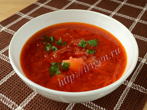 суп свекольный с баклажаном