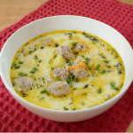 суп с фрикадельками и сливками