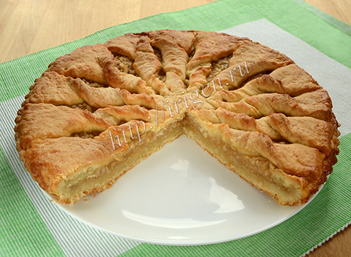 пирог яблочный солнышко