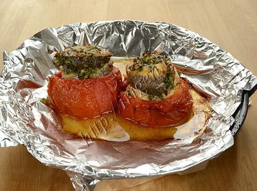 запеченное рыбное филе в помидорах