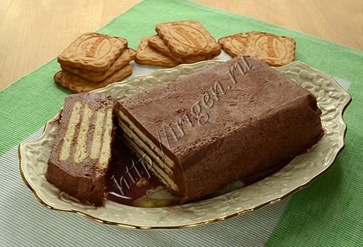 торт из печенья с кремом из сухого молока