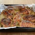 курица в кефире после запекания
