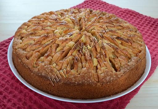 яблочный пирог хризантема после выпечки