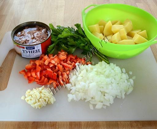 продукты для супа с тунцом