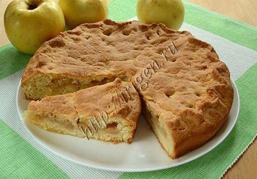 пирог с яблочно-медовой начинкой