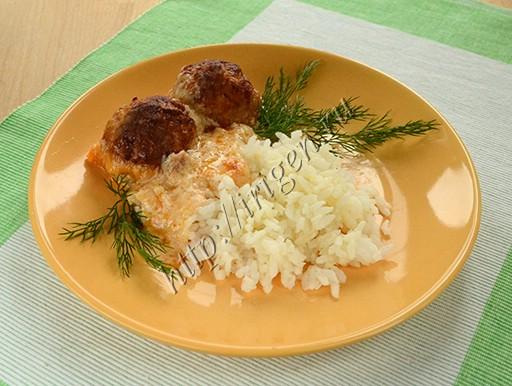 тефтели в сливочно-сырном соусе