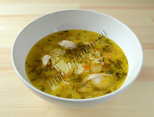 диетический куриный суп с булгуром