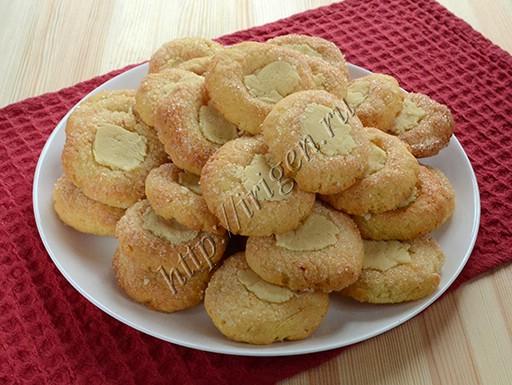 творожное печенье с белым шоколадом