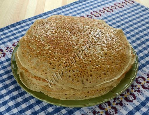блины пшенично-ржаные на кефире