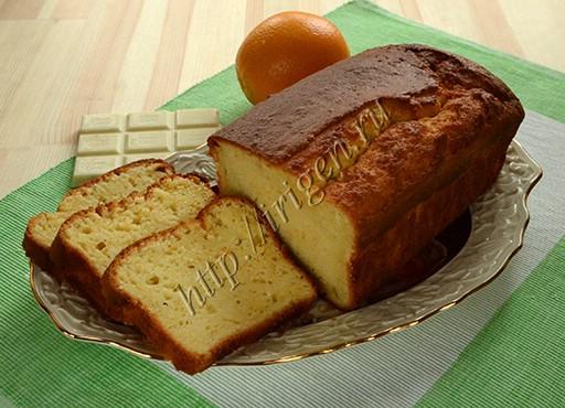 кекс апельсиновый с белым шоколадом