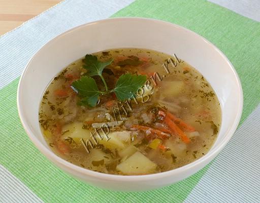 Суп с тунцом рецепт