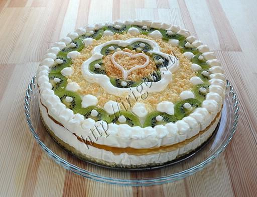 торт-суфле с апельсинами и киви
