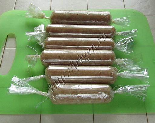 приготовление куриных колбасок