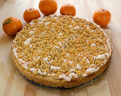 апельсиновый пирог с безе