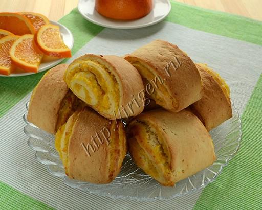 рулетики с апельсиновой начинкой