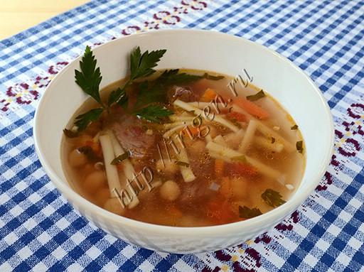 суп с консервированным нутом