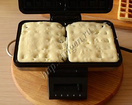 выпекание вафель